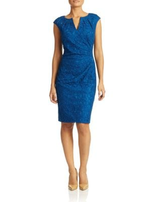 Lace Sheath Dress by Adrianna Papell