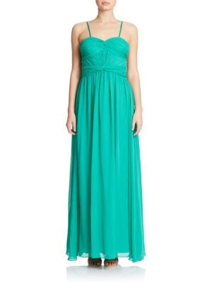 Sleeveless Chiffon Gown by Hailey Logan