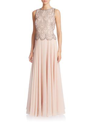 Embellished Popover Gown by J Kara