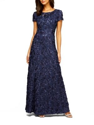 Rosette Shimmer Gown by Alex Evenings