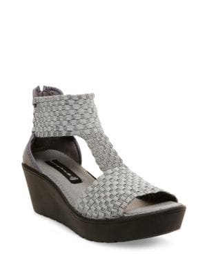 Bengle Wedge Sandals by Steven by Steve Madden