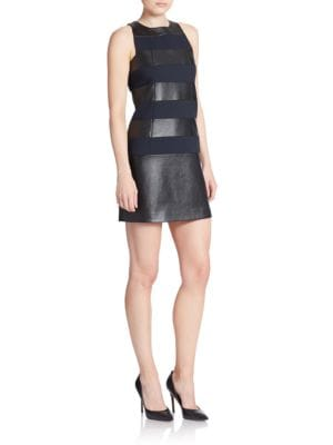 Mixed Media Shift Dress by 4.collective