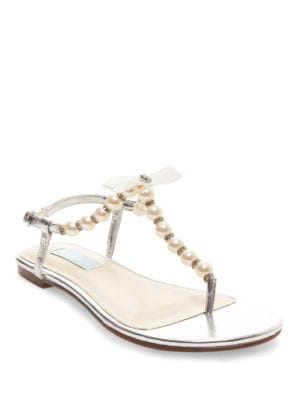 Pearl T-Strap Sandals by Betsey Johnson