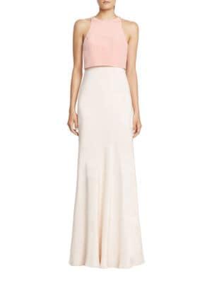 Photo of Colorblocked Popover Gown by Jill Jill Stuart - shop Jill Jill Stuart dresses sales