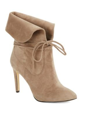 Tallis Suede Lace-Up Booties by 424 Fifth