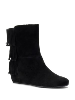 Tricia Suede Wedge Boots by Isola