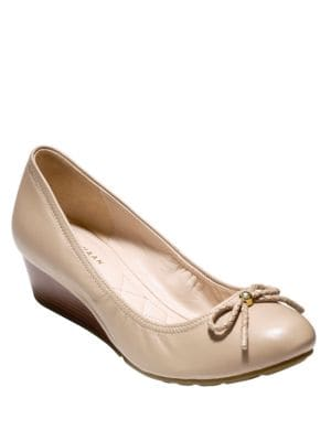 Tali Grand Leather Wedge Pumps by Cole Haan