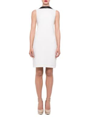 Band Collar Shift Dress by Alexia Admor