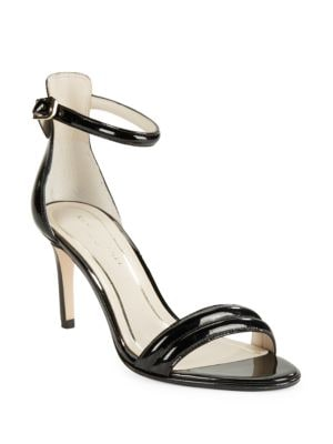 Mallory Faux Patent Leather Ankle Strap Sandals by Kenneth Cole New York