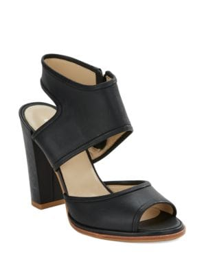 Stacey Leather Block Heel Sandals by Kenneth Cole New York