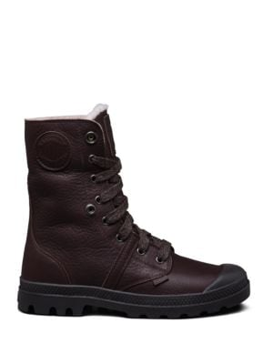 Pallabrouse Leather Lace-Up Boots by Palladium