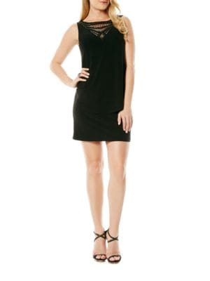 Embellished Popover Jersey Dress by Laundry by Shelli Segal