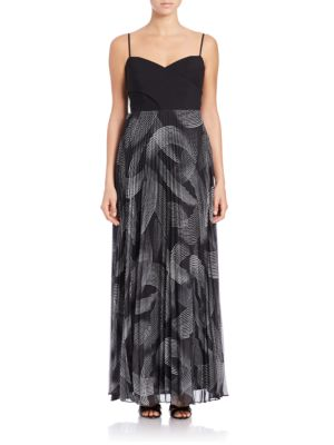 Sleeveless Printed-Skirt Gown by Laundry by Shelli Segal