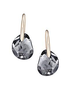 Quick View Swarovski Oblong Crystal Drop Earrings
