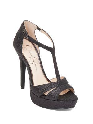 bc48b783af59a4 Jessica Simpson - Beryl Glitter Platform Sandals