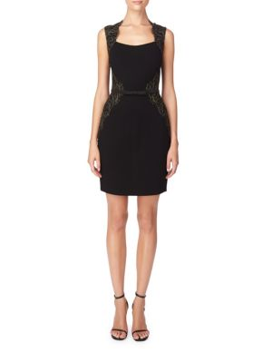 Fitted Lace-Accented Sheath Dress by Erin Fetherston