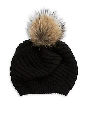 3b7ff2a9f5f7b Linda Richards - Wool and Coyote Fur Hat - lordandtaylor.com