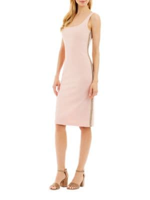 Solid Back-Zip Bodycon Dress by Nicole Miller New York