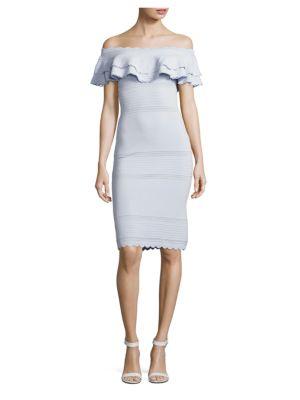 Off-The-Shoulder Popover Dress by Shoshanna