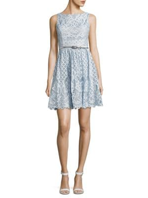 Boatneck Sleeveless Lace Dress by Eliza J