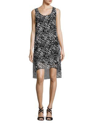 Printed High-Low Dress by Mika & Gali