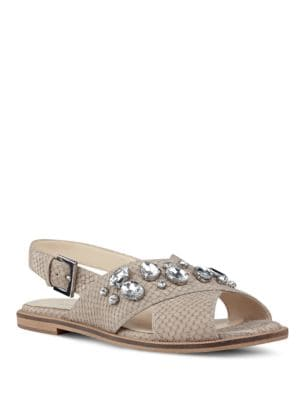 Photo of Ostina Embellished Slingback Sandals by Nine West - shop Nine West shoes sales