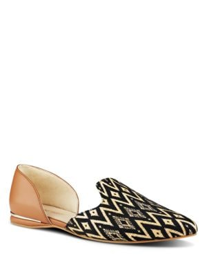 Shay Mixed Media Printed Smoking Flats by Nine West