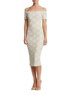 Jemma Bodycon Lace Dress by Dress The Population