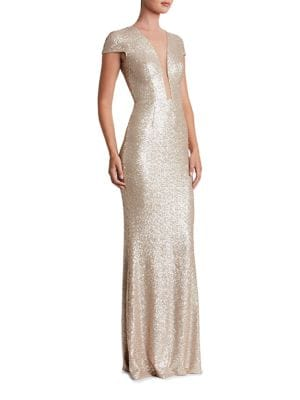 Michelle Sequined Bodycon Gown by Dress The Population