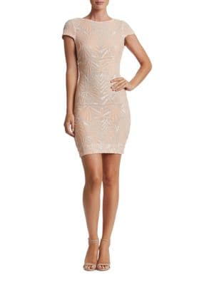 Tabitha Geometric Sequined Bodycon Dress by Dress The Population