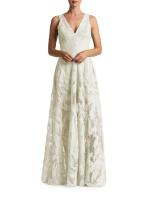 Marlene V-Neck Lace Gown by Dress The Population