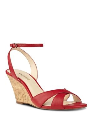 Kami Leather Wedge Sandals by Nine West