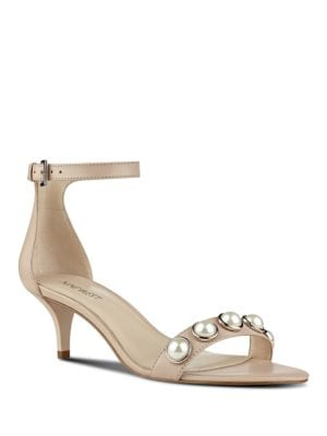 Lipstick Classic Heel Leather Sandals by Nine West