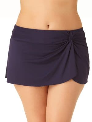 Asymmetrical Knotted Swim Skirt by Anne Cole Womens