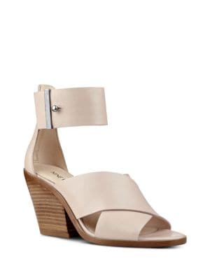 Yannah Leather Block Heel Sandals by Nine West
