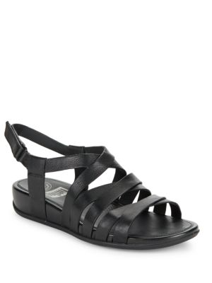 Lumy Leather Wedge Sandals by FitFlop