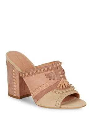 Philip Suede Open-Toe Mules by Sigerson Morrison