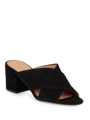 Rhoda Suede Block-Heel Sandals by Sigerson Morrison
