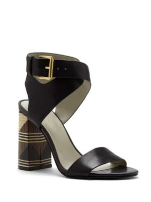 Rayla Stacked-Heel Strappy Sandals by 1.STATE