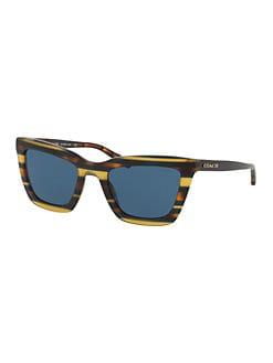 3e133658a71d5 QUICK VIEW. COACH. 54MM L1630 Wayfarer Sunglasses