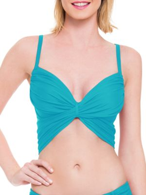 Solid Tie Back Bikini Top by Blush By Gottex