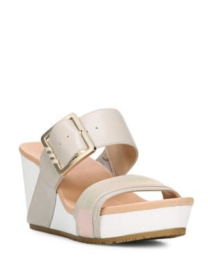 Original Frill High Wedge Leather Sandals by Dr. Scholl's