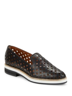 Zanna Perforated Leather Loafers by Aquatalia