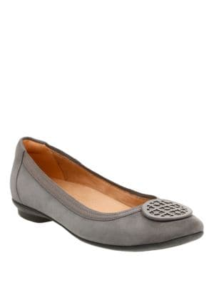Candra Suede Ballet Flats by Clarks