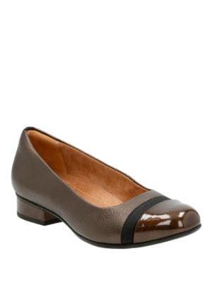Cap Toe Leather Pumps by Clarks