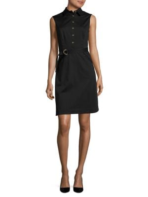 Belted Sleeveless Dress by Ellen Tracy