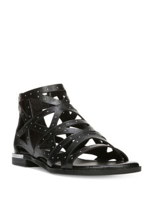 Crazy Leather Cutout Sandals by Fergie