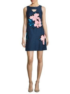 Textured Floral Sheath Dress by Taylor