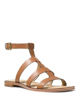 Fallon Leather Flat Sandals by MICHAEL MICHAEL KORS