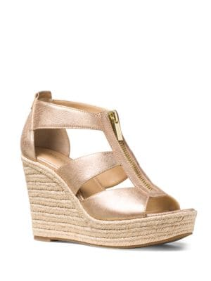 Damita Leather Espadrille Wedges by MICHAEL MICHAEL KORS